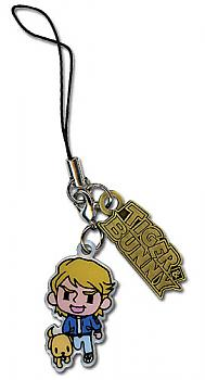 Tiger & Bunny Phone Charm - Keith & Logo Metal