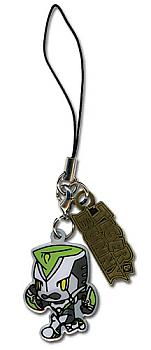 Tiger & Bunny Phone Charm - Wild Tiger & Logo Metal