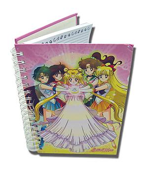 Sailor Moon Nardcover Notebook - Princess Serenity & Sailor Scouts