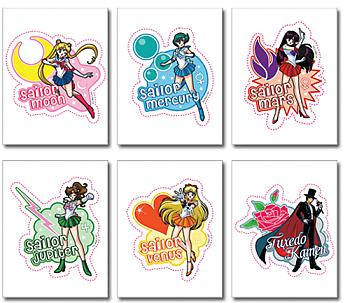 Sailor Moon Sticker (Set of 6)