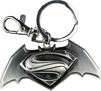 DC Comics Key Chain - Batman V Superman Gray Logo