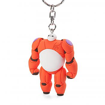 Big Hero 6 Key Chain - Exposed Face and Belly Baymax 3D Figural Soft Touch (Disney)
