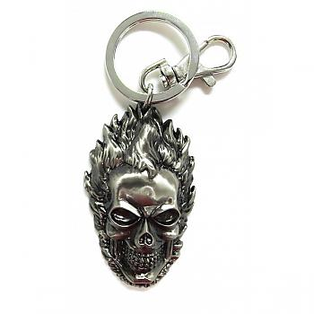 Marvel Key Chain - Ghost Rider Gray Pewter