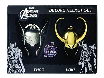 Thor Key Chain - Thor & Loki Helmet Limited Edition (Set of 2)