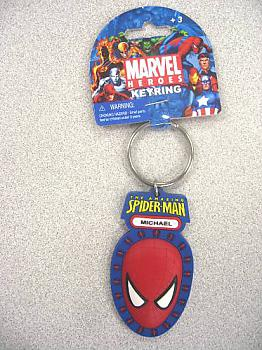 SpiderMan Key Chain - Head Color Soft Touch