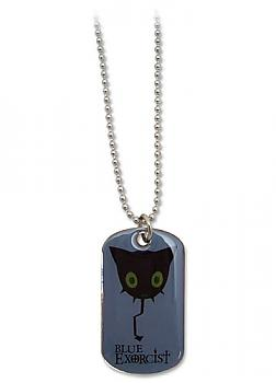 Blue Exorcist Necklace - Coal Tar Dog Tag