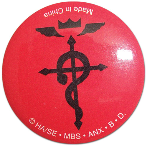Fullmetal Alchemist 125 Button Cross Of Flamel Archoniaus