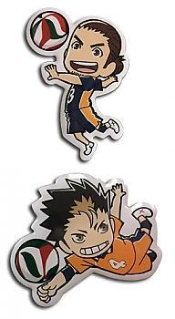 Haikyu!! Pins - Yu & Asahi (Set of 2)