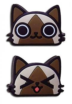 Monster Hunter Pins - Airou Faces (Set of 2)