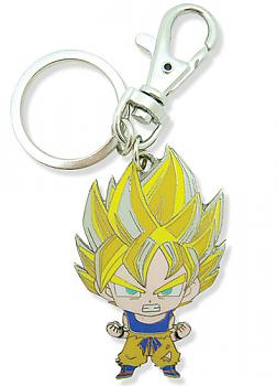 Dragon Ball Z Key Chain - Metal SD Super Saiyan Goku