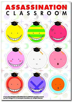 Assassination Classroom Sticker - Koro Sensei Faces Set