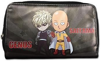 One-Punch Man Wallet - SD Saitama & Genos Zip Around