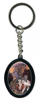 Samurai Seven Key Chain - Round Potrait