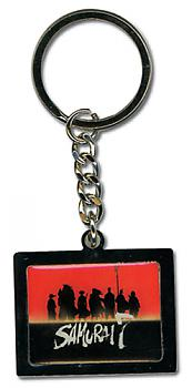 Samurai Seven Key Chain - Square Group Silhouette