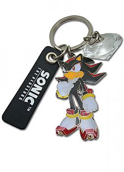 Sonic The Hedgehog Key Chain - Shadow with Chaos Emerald Metal