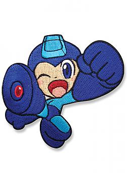 Mega Man Powered Up Patch - Mega Man Jumping Wink