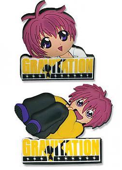 Gravitation Pins - Logo and Shuichi (Set of 2)