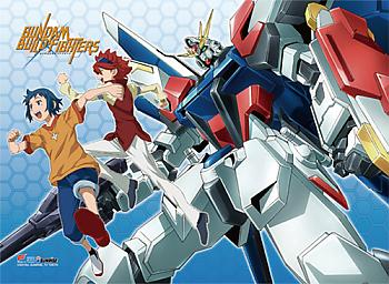 Gundam Build Fighters Fabric Poster - Group