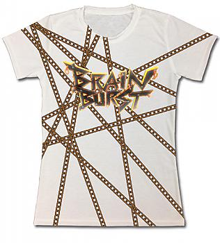 Accel World T-Shirt - Brain Burst & Chain (Junior L)