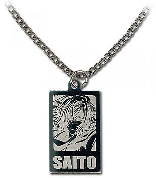 Hakuoki 2nd Necklace - Saito Metal Portrait