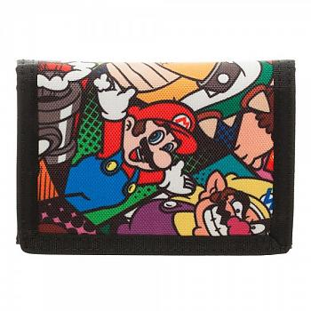 Nintendo Wallet - Super Mario Characters Velcro