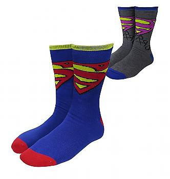 Superman Socks - Superman/Bizzaro Reversible Unisex