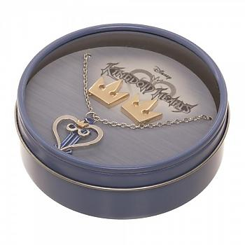 Kingdom Hearts II Necklace & Crown Earrings Set - Logo