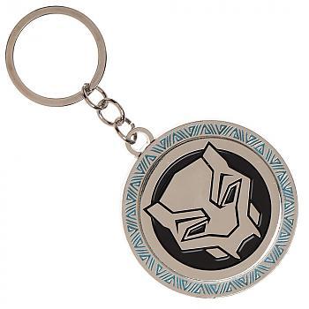 Black Panther Key Chain - Movie Logo Metal