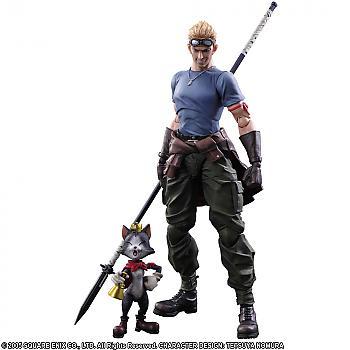 Final Fantasy VII Remake Play Arts Action Figure - Cid Highwind & Cait Sith