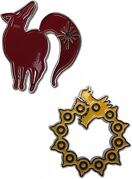 Seven Deadly Sins Pins - Fox's Sin of Greed & Dragon's Sin of Wrath (Set of 2)