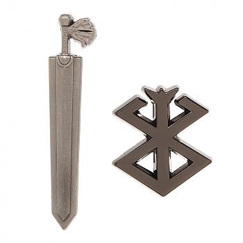 Berserk Pins - Dragon Slayer & Brand of Sacrifice (Set of 2)