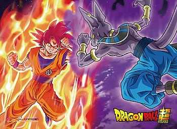 Dragon Ball Super Wall Scroll - SSGSS Goku Vs. Beerus [LONG]