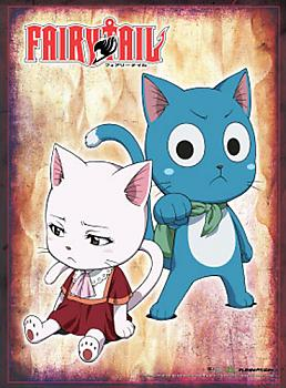 Fairy Tail Wall Scroll - Carla & Happy