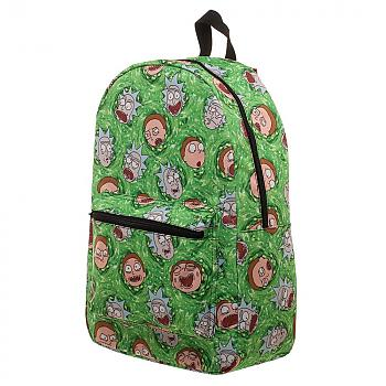 Rick and Morty Backpack - Portal Rick & Morty Heads