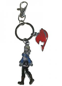 Fairy Tail Key Chain - Lucy & Guild Logo Metal