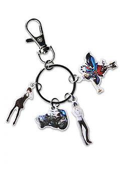 Person 5 Key Chain - Makoto, Yusuke, Johanna & Goemon Metal