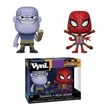 Avengers Infinity War Vynl. Figure - Thanos & Iron Spider (2-Pack)