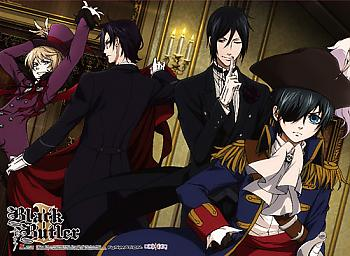 Black Butler 2 Premium Wall Scroll - Group 4 [LONG]