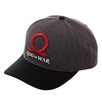 God of War Cap - Logo Curved Snapback with Sublimated Print Underbill