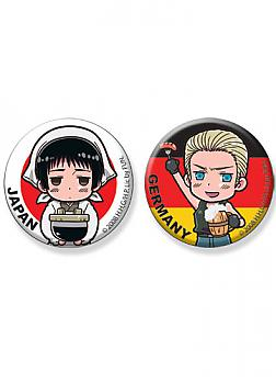 Hetalia Button - Japan and Germany (Set of 2)